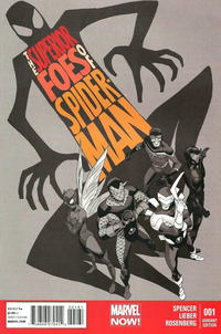 Cover Thumbnail for The Superior Foes of Spider-Man (Marvel, 2013 series) #1 [MRRC Black & White Variant by Marcos Martin]