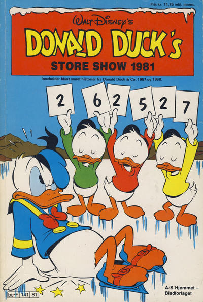 Cover for Donald Ducks Show (Hjemmet / Egmont, 1957 series) #[40] - Store show 1981