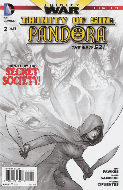 Cover for Trinity of Sin: Pandora (DC, 2013 series) #2 [Ryan Sook Black & White Cover]