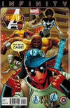 Cover for Mighty Avengers (Marvel, 2013 series) #1 [Deadpool Variant by Greg Land]