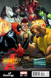 Cover for Mighty Avengers (Marvel, 2013 series) #1 [Hastings Exclusive Variant by Humberto Ramos]
