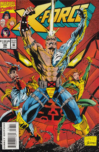 Cover Thumbnail for X-Force (Marvel, 1991 series) #36 [Direct Edition]