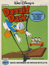 Cover Thumbnail for Walt Disney's Beste Historier om Donald Duck & Co [Disney-Album] (Hjemmet / Egmont, 1978 series) #17 - Det viktigste er å delta