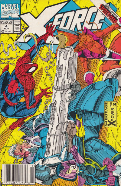 Cover for X-Force (Marvel, 1991 series) #4 [Newsstand]