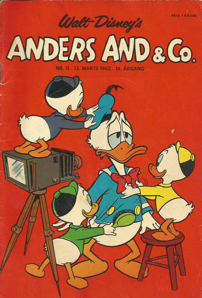 Cover for Anders And & Co. (Egmont, 1949 series) #11/1962