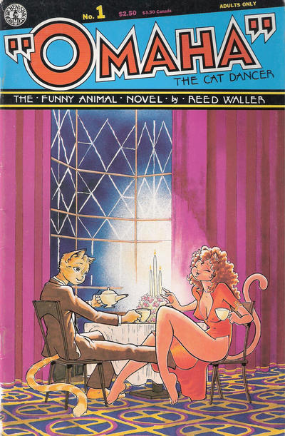 Cover for Omaha the Cat Dancer (Kitchen Sink Press, 1986 series) #1