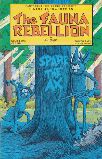 Cover for The Fauna Rebellion (Fantagraphics, 1990 series) #1