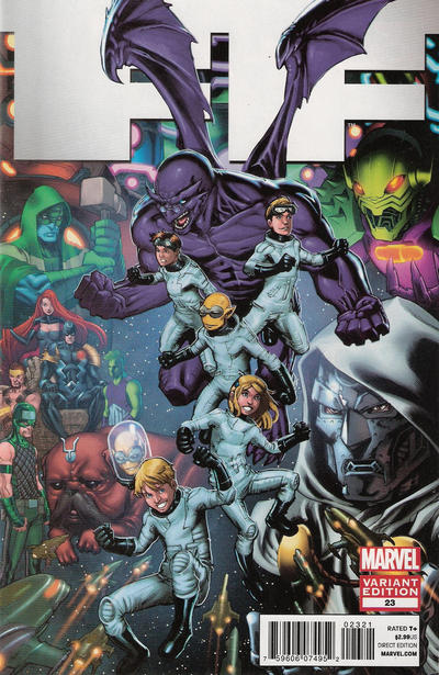 Cover for FF (Marvel, 2011 series) #23 [Variant Edition]