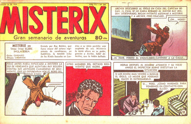 Cover for Misterix (Editorial Abril, 1948 series) #288