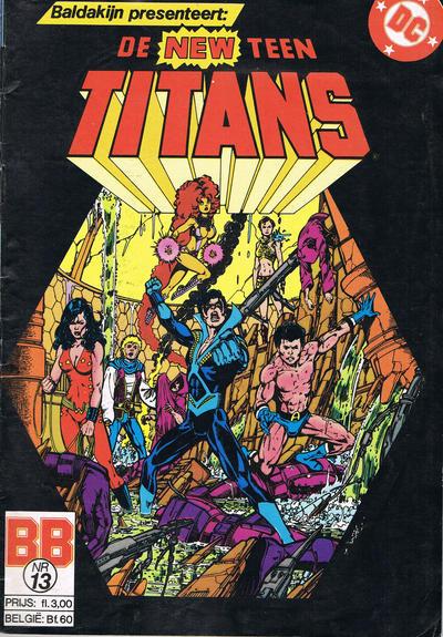 Cover for De New Teen Titans (JuniorPress, 1985 series) #13