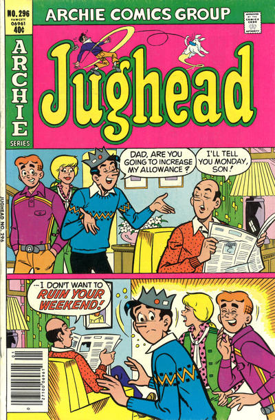Cover for Jughead (Archie, 1965 series) #296