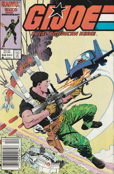 Cover for G.I. Joe, A Real American Hero (Marvel, 1982 series) #54 [Direct Edition]