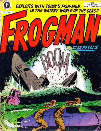 Cover for Frogman Comics (Thorpe & Porter, 1952 series) #4