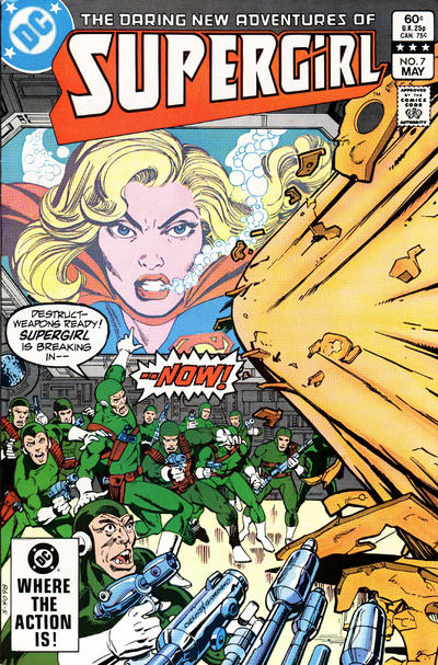 Cover for The Daring New Adventures of Supergirl (DC, 1982 series) #7 [Newsstand]