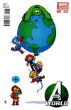Cover Thumbnail for Avengers World (2014 series) #1 [Marvel Babies Variant by Skottie Young]