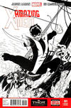 Cover Thumbnail for Amazing X-Men (2014 series) #1 [Black & White Wraparound Variant by Ed McGuinness]