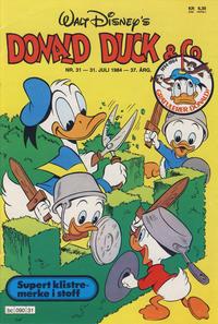 Cover Thumbnail for Donald Duck & Co (Hjemmet / Egmont, 1948 series) #31/1984