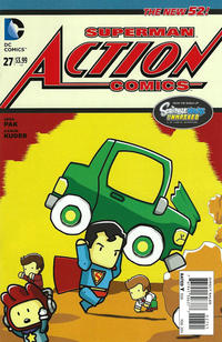 Cover Thumbnail for Action Comics (DC, 2011 series) #27 [Scribblenauts Unmasked Variant Cover]