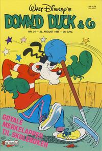 Cover Thumbnail for Donald Duck & Co (Hjemmet / Egmont, 1948 series) #34/1985