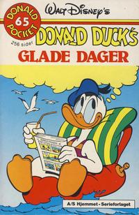 Cover Thumbnail for Donald Pocket (Hjemmet / Egmont, 1968 series) #65 - Donald Duck's glade dager [1. opplag]