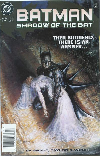 Cover for Batman: Shadow of the Bat (DC, 1992 series) #64 [Newsstand]