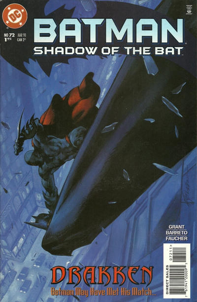 Cover for Batman: Shadow of the Bat (DC, 1992 series) #72 [Direct Edition]