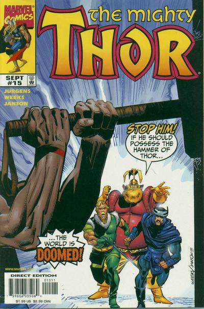 Cover for Thor (Marvel, 1998 series) #15