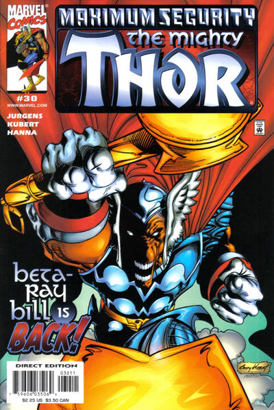 Cover for Thor (Marvel, 1998 series) #30