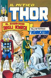Cover Thumbnail for Il Mitico Thor (Editoriale Corno, 1971 series) #20