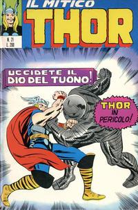 Cover Thumbnail for Il Mitico Thor (Editoriale Corno, 1971 series) #21
