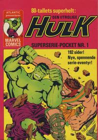 Cover Thumbnail for Hulk Pocket [Hulk Superseriepocket] (Atlantic Forlag, 1979 series) #1