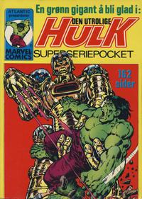 Cover Thumbnail for Hulk Pocket [Hulk Superseriepocket] (Atlantic Forlag, 1979 series) #3