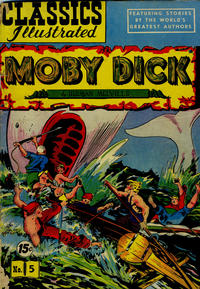 Cover Thumbnail for Classics Illustrated (Gilberton, 1947 series) #5 [HRN 87] - Moby Dick