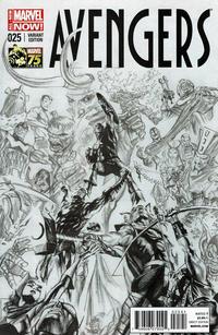 Cover Thumbnail for Avengers (Marvel, 2013 series) #25 [Marvel's 75th Anniversary Alex Ross Sketch Variant]