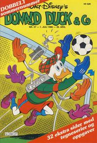 Cover Thumbnail for Donald Duck & Co (Hjemmet / Egmont, 1948 series) #27/1986