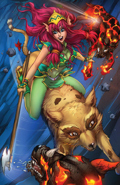 Cover for Knightingail: Shadow Divisions (Big Dog Ink, 2013 series) #4 [Cover C]