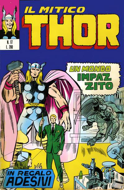 Cover for Il Mitico Thor (Editoriale Corno, 1971 series) #17