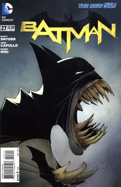 Cover for Batman (DC, 2011 series) #27 [Scribblenauts Unmasked Cover]