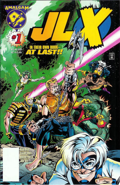 Cover for JLX (DC, 1996 series) #1 [Newsstand Edition]