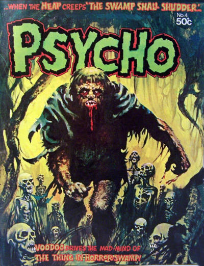 Cover for Psycho (Yaffa / Page, 1976 series) #4