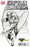 Cover Thumbnail for Captain America (2011 series) #1 [Diamond Select Neal Adams Black & White Variant]