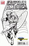 Cover for Captain America (Marvel, 2011 series) #1 [Diamond Select Neal Adams Black & White Variant]