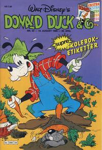 Cover Thumbnail for Donald Duck & Co (Hjemmet / Egmont, 1948 series) #34/1986
