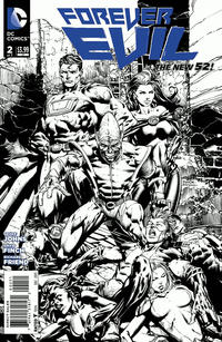 Cover Thumbnail for Forever Evil (DC, 2013 series) #2 [David Finch / Richard Friend Black & White Cover]
