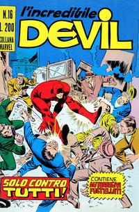 Cover Thumbnail for L'Incredibile Devil (Editoriale Corno, 1970 series) #16