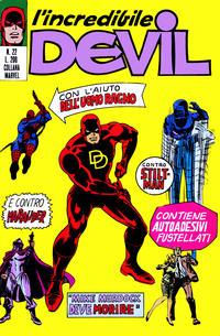 Cover Thumbnail for L'Incredibile Devil (Editoriale Corno, 1970 series) #22