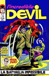 Cover Thumbnail for L'Incredibile Devil (Editoriale Corno, 1970 series) #27
