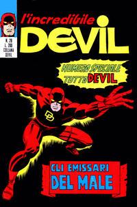 Cover Thumbnail for L' Incredibile Devil (Editoriale Corno, 1970 series) #28