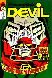 Cover Thumbnail for L'Incredibile Devil (Editoriale Corno, 1970 series) #34