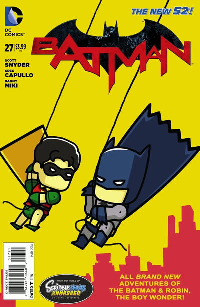 Cover for Batman (DC, 2011 series) #27 [Scribblenauts Unmasked Variant Cover]
